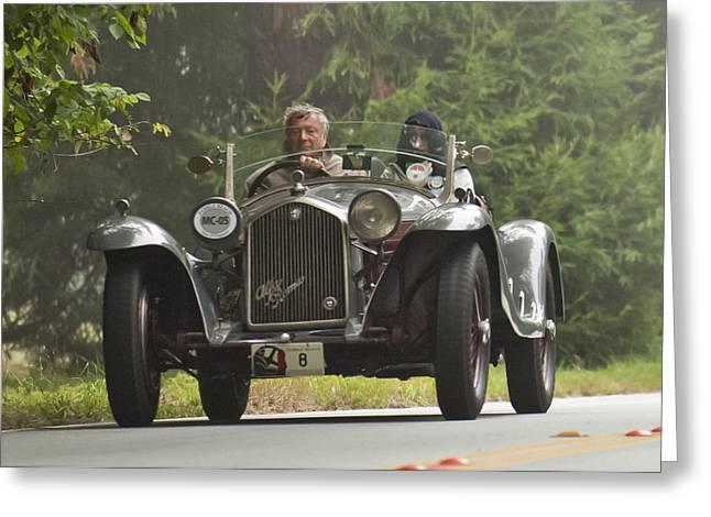 1933 Alfa Romeo 8c Corto Touring Spyder Greeting Card by Jill Reger