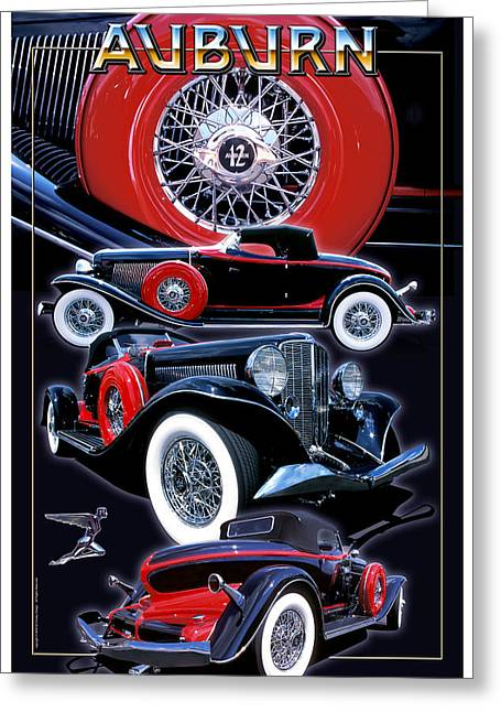 1933 Auburn Speedster Greeting Card