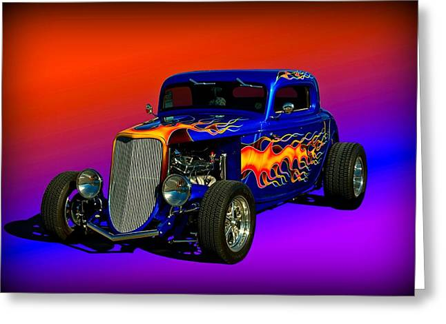 1933 Ford High Boy Hot Rod Greeting Card