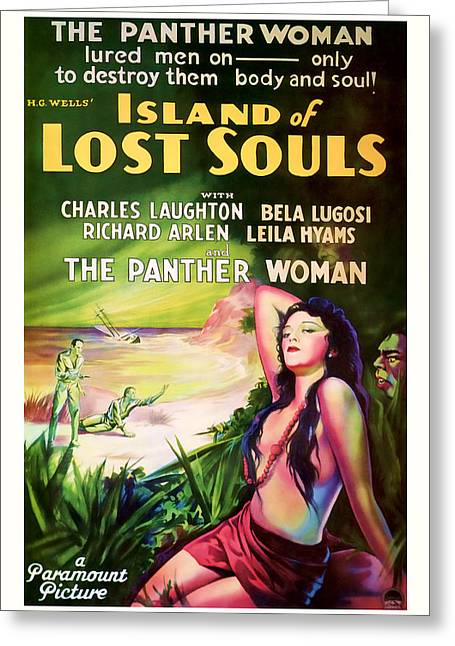 1933 Island Of Lost Souls Vintaage Movie Art Greeting Card