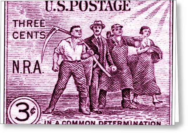 1933 National Recovery Act Stamp Greeting Card