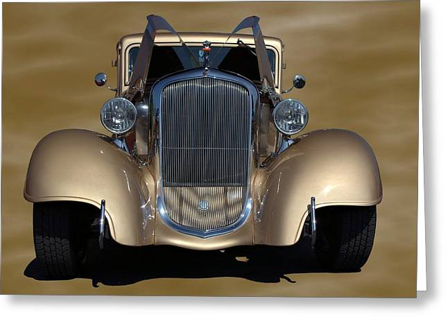 Greeting Card featuring the photograph 1933 Plymouth Hot Rod Coupe by Tim McCullough