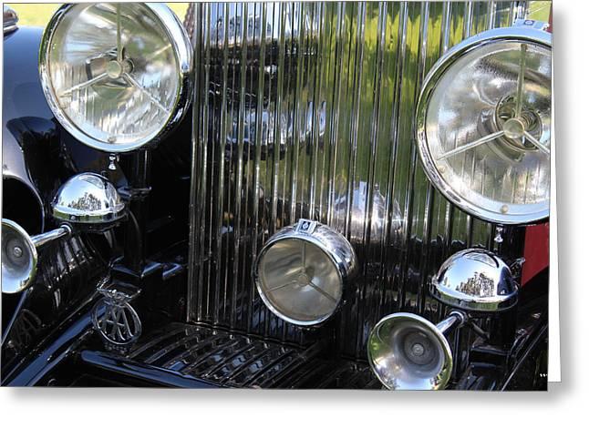 1933 Rolls Royce Phantom II Front Assembly Greeting Card by Mark Steven Burhart