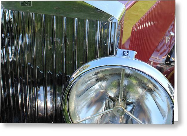 1933 Rolls Royce Phantom II Grille Greeting Card by Mark Steven Burhart