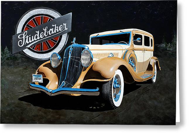 1933 Studebaker Greeting Card
