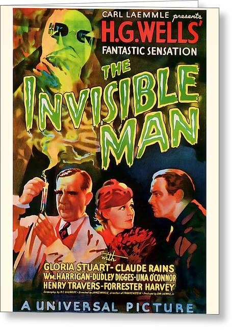 1933 The Invisible Man Vintage Movie Art Greeting Card