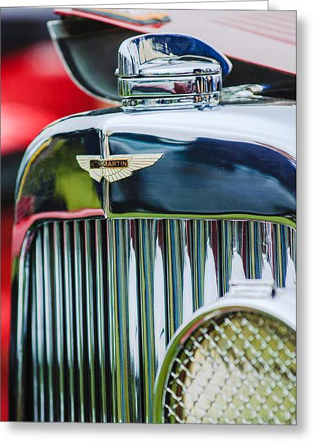 1934 Aston Martin Mark II Short Chassis 2-4 Seater Grille Emblem Greeting Card