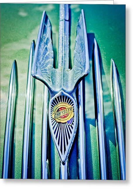 1934 Chrysler Airflow Hood Ornament 2 Greeting Card