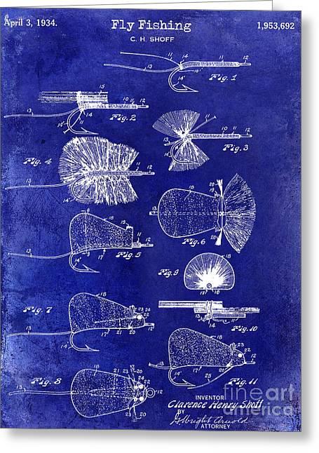 1934 Fly Fishing Lures  Greeting Card by Jon Neidert