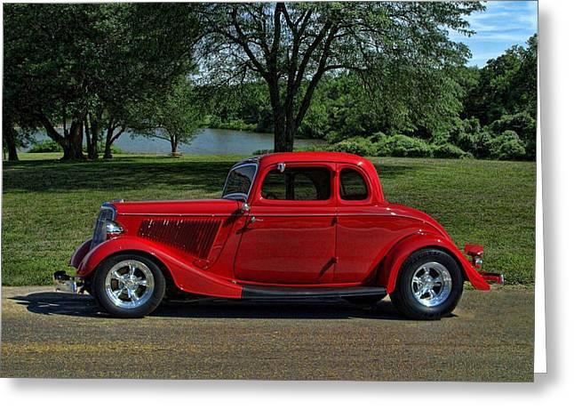 1934 Ford 5 Window Hot Rod Greeting Card