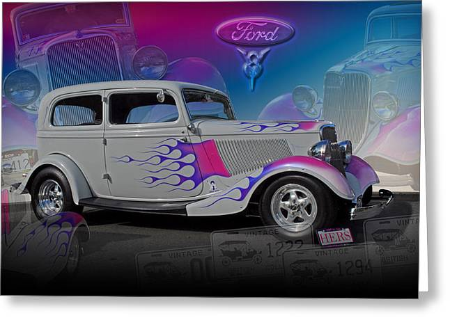 1934 Ford Delux Greeting Card