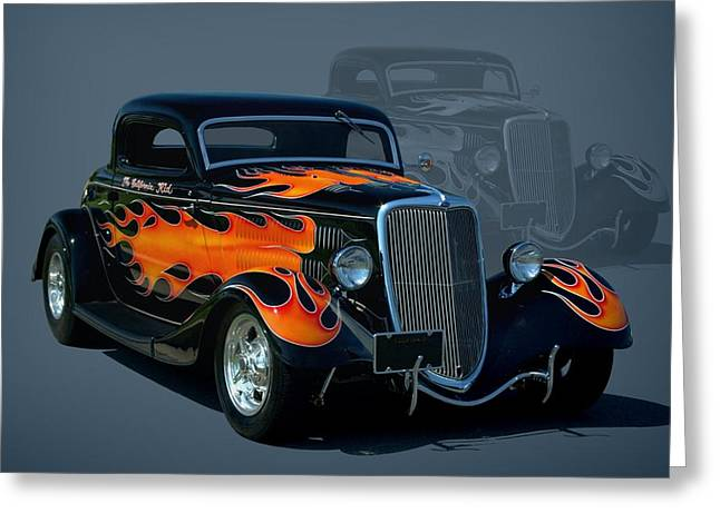 1934 Ford Hot Rod Greeting Card by Tim McCullough