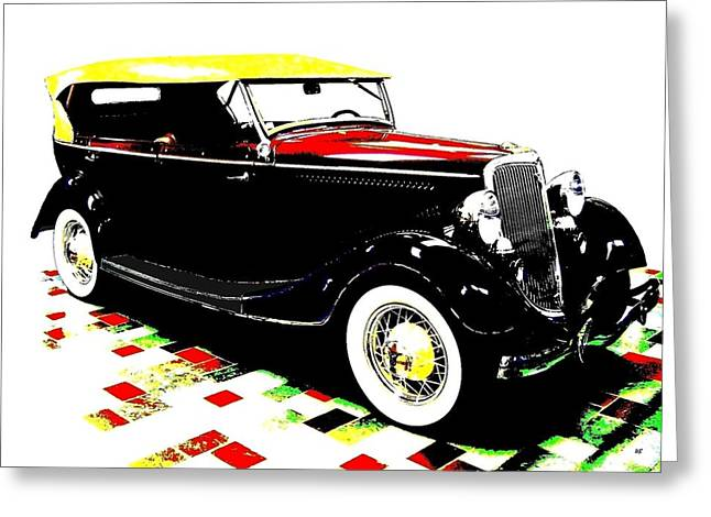 1934 Ford Phaeton V8  Greeting Card by Will Borden