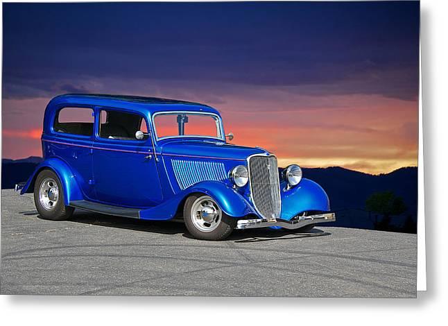 1934 Ford Tudor Sedan Greeting Card by Dave Koontz