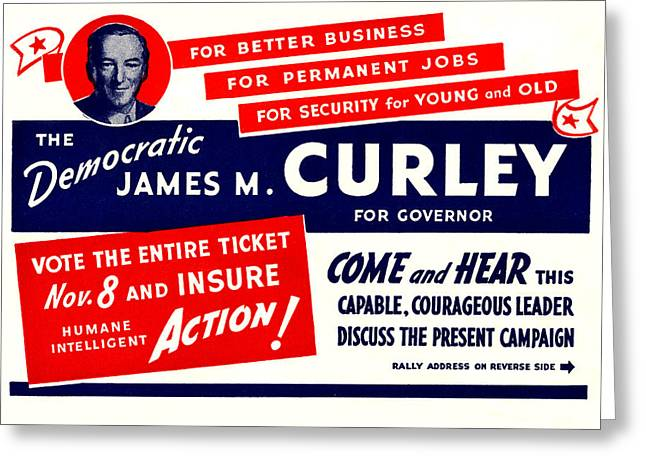 1934 James Michael Curley Greeting Card