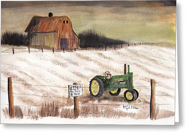 1934 John Deere Model A For Sale Greeting Card