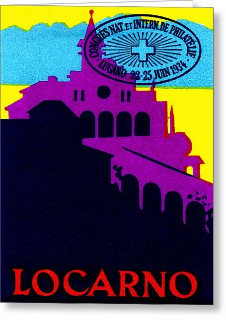 1934 Locarno Switzerland Greeting Card
