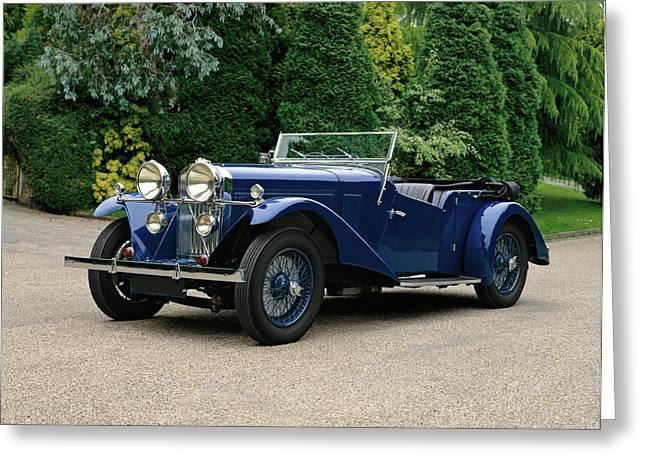 1934 Talbot 105 Vanden Plas Tourer, 3.0 Greeting Card by Panoramic Images
