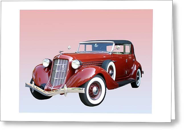 1935 Auburn 8 Phaeton 851 Greeting Card