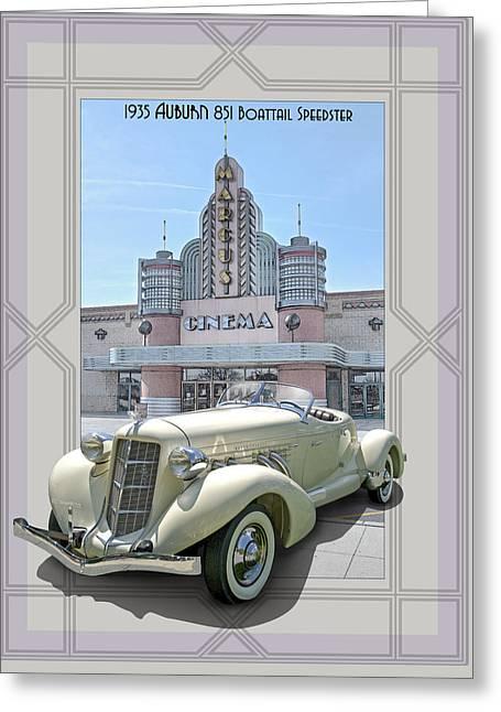 1935 Auburn 851 Boattail Speedster Greeting Card