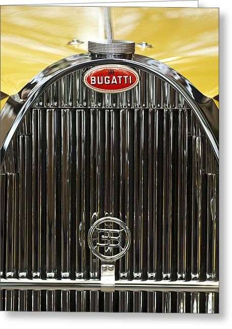 1935 Bugatti Type 57 Roadster Hood Emblem Greeting Card