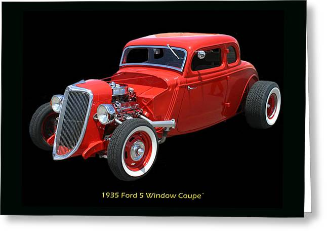 1935 Ford 5 Window Coupe Greeting Card by Jack Pumphrey