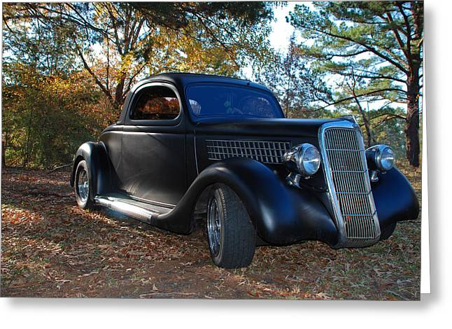 1935 Ford Coupe Greeting Card by Jeanne May