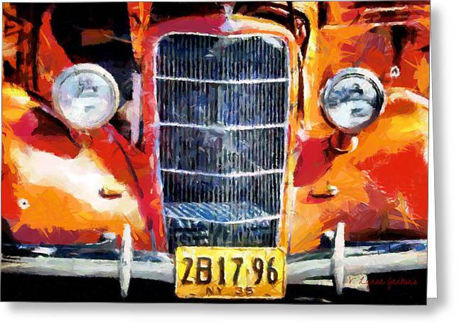 1935 Ford Coupe Greeting Card by Lynne Jenkins