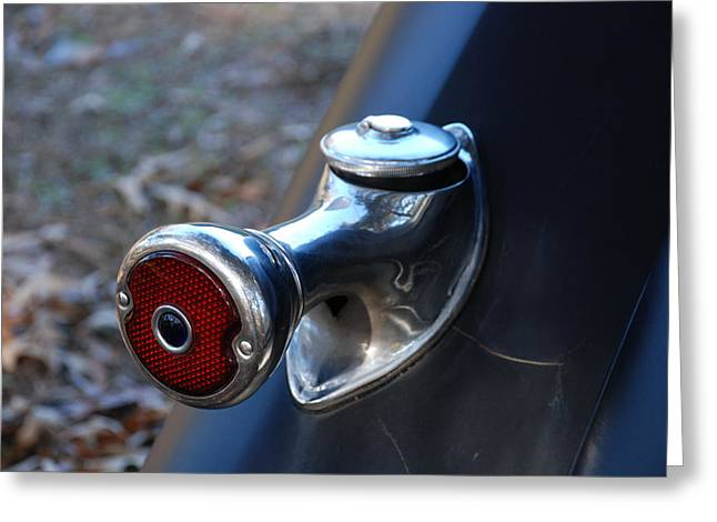 1935 Ford Tail Light And Gas Cap Greeting Card by Jeanne May