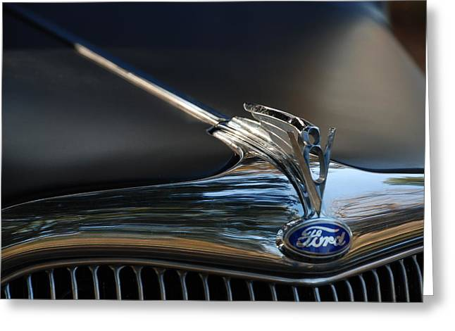 1935 Ford V8 Emblem  Greeting Card by Jeanne May