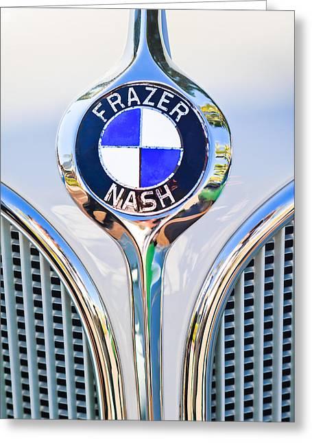 1935 Fraser Nash - Bmw 319 Roadster Emblem Greeting Card by Jill Reger