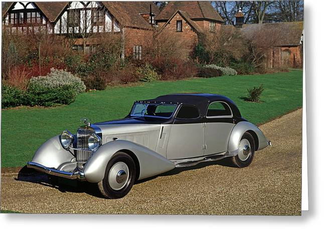 1935 Hispano Suiza K6 Fernandez & Greeting Card by Panoramic Images