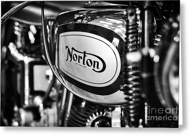 1935 Norton 18 Motorcycle Greeting Card by Tim Gainey
