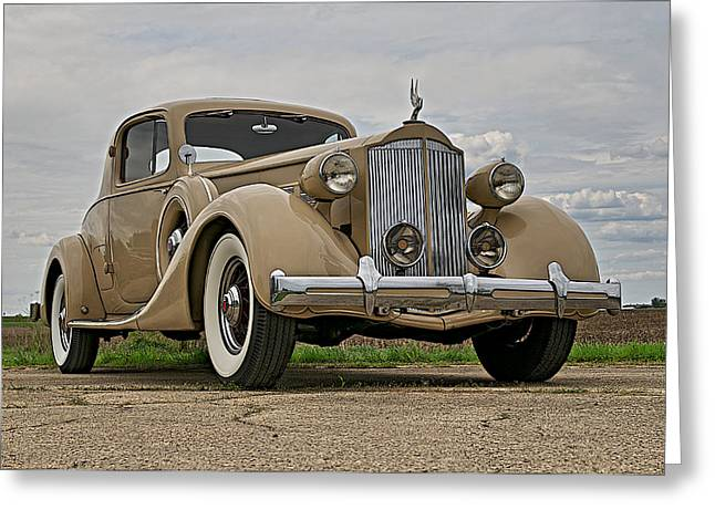1935 Packard Super 8 Greeting Card by Jerry Druhan