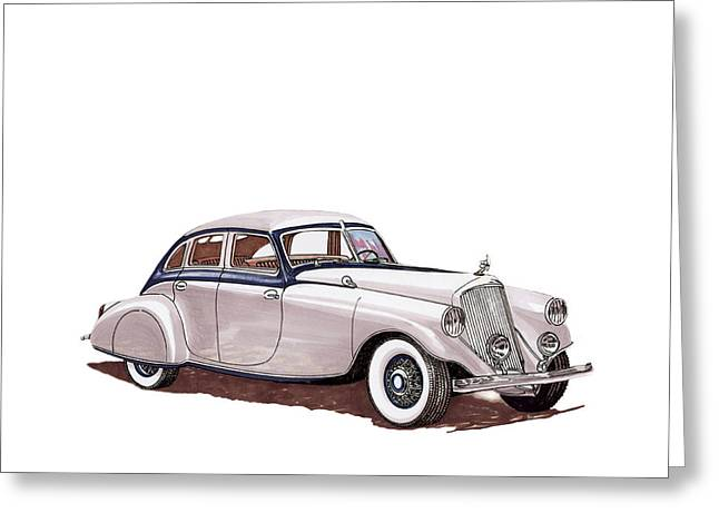 1935 Pierce Arrow Silver Arrow Greeting Card