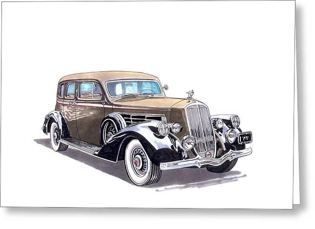 1935 Pierce Arrow V 12 Sedan Greeting Card by Jack Pumphrey