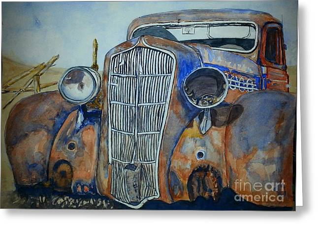 1935 Plymouth Coupe Greeting Card by DJ Laughlin