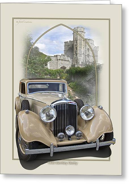 1936 Bentley Derby Greeting Card by Roger Beltz