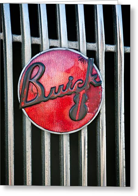 1936 Buick 8 Grille Emblem Greeting Card