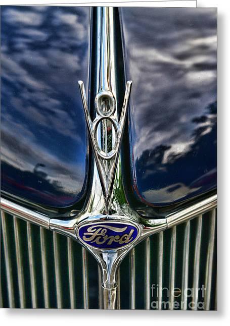1936 Ford Phaeton Hood Ornament Greeting Card by Paul Ward