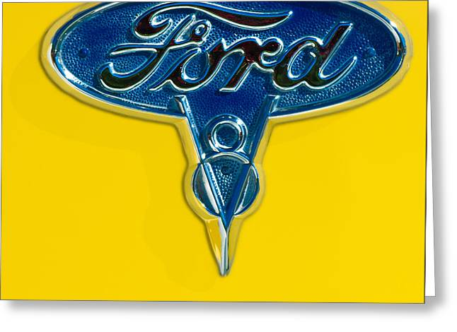 1936 Ford Pickup Truck Emblem Greeting Card by Jill Reger