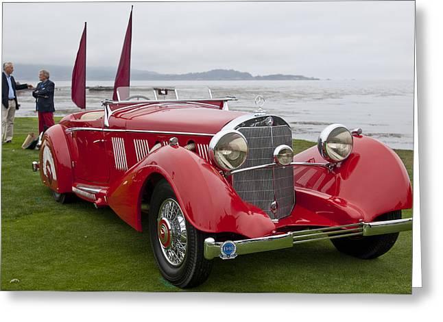1936 Mercedes-benz 540k Mayfair Special Roadster Greeting Card by Jill Reger
