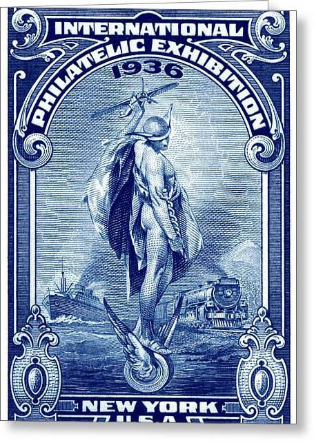 1936 New York International Philatelic Expo Greeting Card by Historic Image