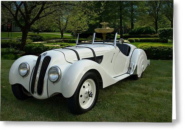 1937 Bmw 328 Roadster Greeting Card by Tim McCullough