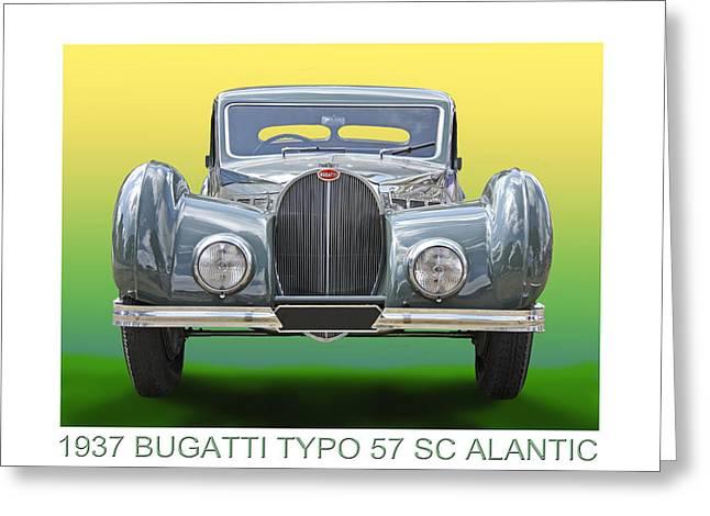 1937 Bugatti 57 S C Atalante Greeting Card