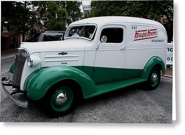 1937 Chevy Delivery Van Greeting Card
