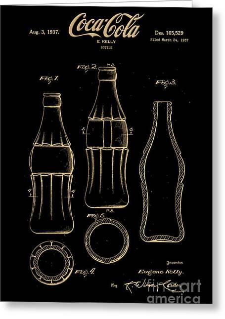 1937 Coca Cola Bottle Design Patent Art 7 Greeting Card