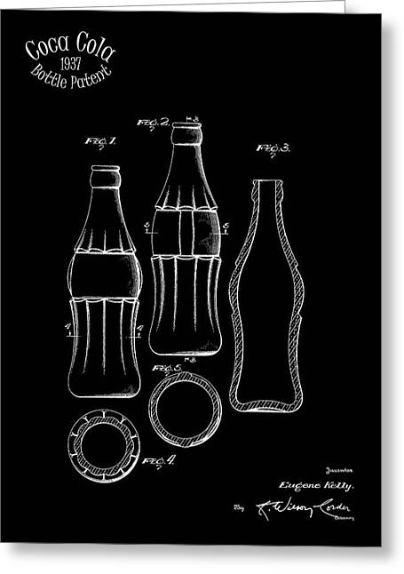 1937 Coca Cola Bottle Greeting Card by Mark Rogan