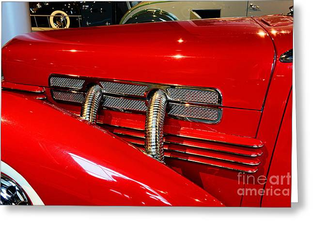 1937 Cord 812 Supercharged Phaeton Greeting Card by Paul Ward