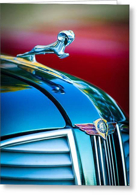1937 Dodge Hood Ornament - Emblem Greeting Card by Jill Reger